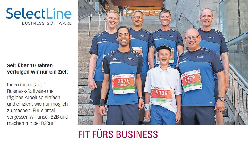 Publikation St. Galler Nachrichten B2Run Schweizer Firmenlauf